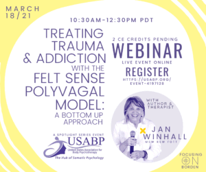 Flyer for Jan Winhall Webinar